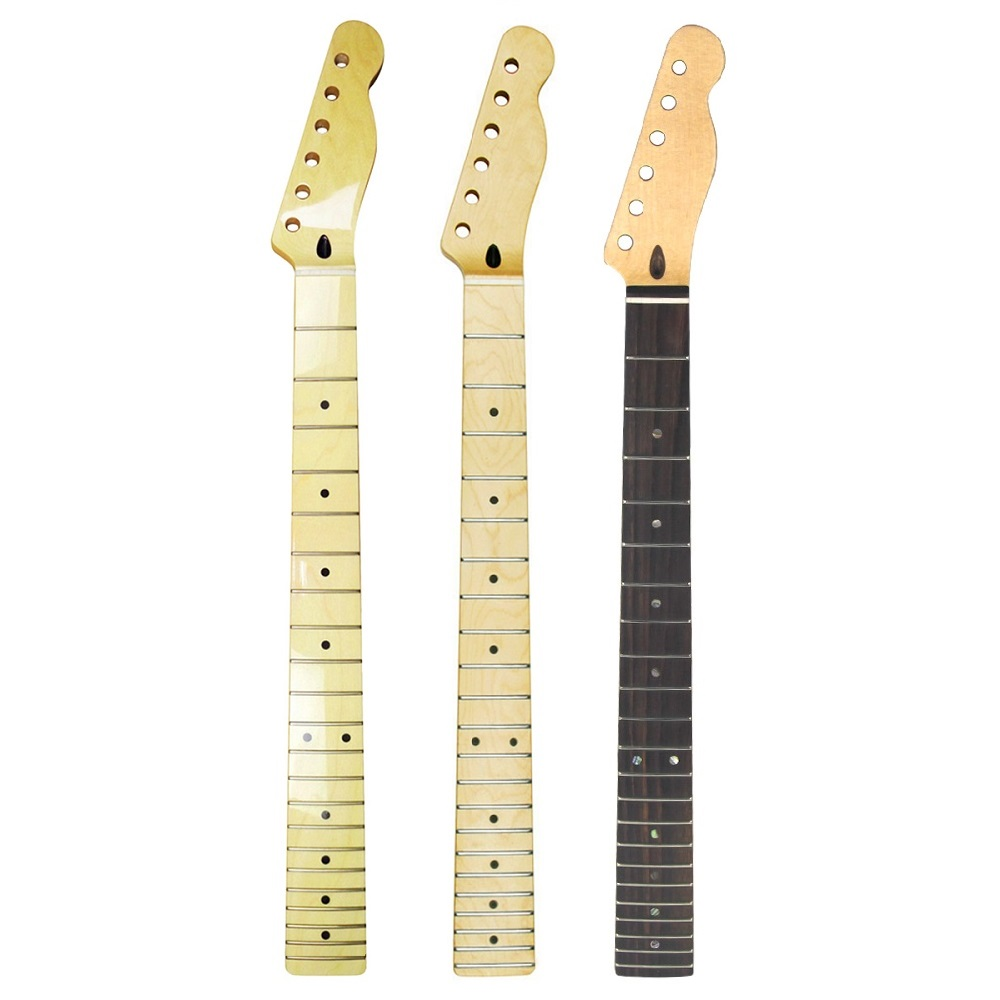 FLEOR 1PCS Quality 22 Frets Guitar Neck Electric Guitar Neck Canadian Maple For FD Tele Style