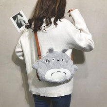2019 new cartoon plush big bag female totoro doll cute girl shoulder messenger