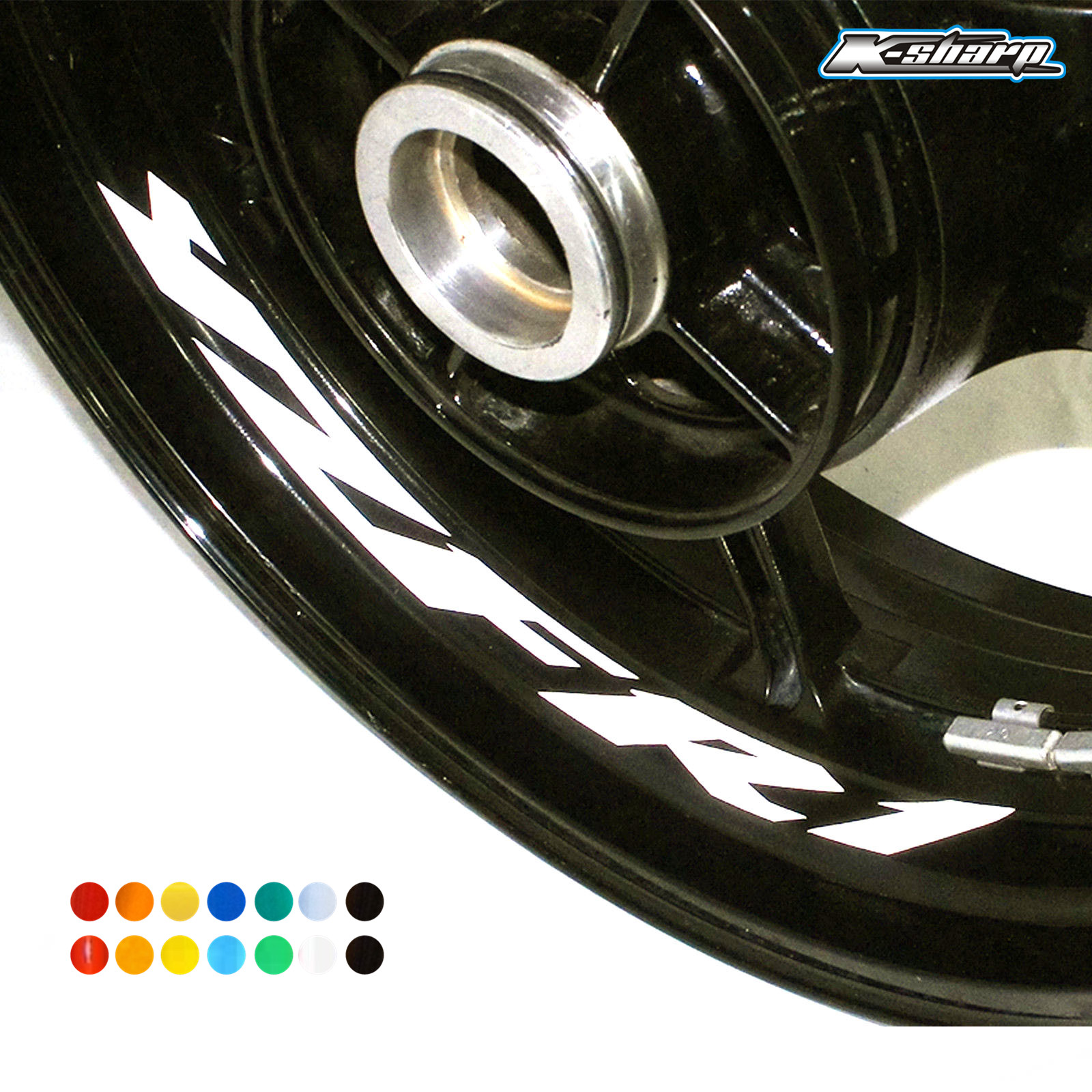 8 X Custon Inner Rim Decals Wheel Reflective Sign Stickers Stripes FIT YAMAHA YZF R1