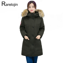 Womens Parka 2019 new women fashion plus size Fur collar thi