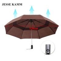 Three Fold Double Layer Automatic Development Of Men S Umbrella To Increase The Wind Umbrella