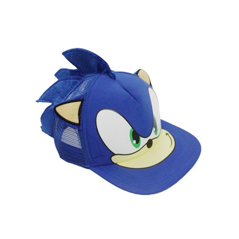 25*16cm Sonic Cosplay Cap Baseball Hat Cartoon Anime Plush Cap Cool Birthday Gift For Children Free Shipping