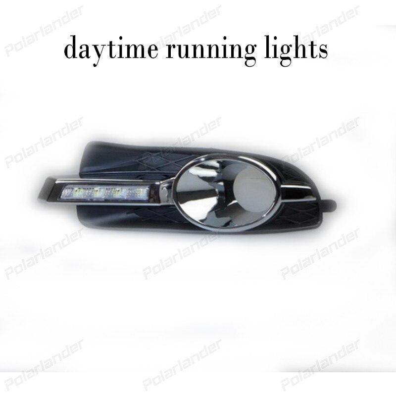 1 pair for B/uick L/aCrosse 2008-2012 Car LED DRL Daytime Running Lights Fog Lamp Day Driving Light