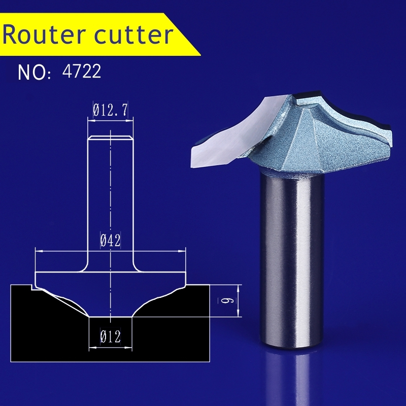 1pcs 12.7*42mm Chest/Door wood engraving machine tool slotting Lace milling cutter woodworking Hollow out cutter 4722 1pcs 6 16mm chest door engraving machine milling knife wood cutter router bit knives 3d lace woodworking milling cutter no 4046
