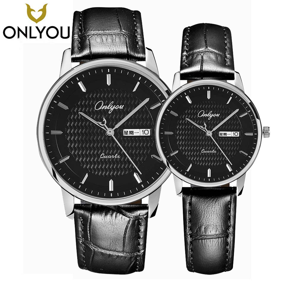 ONLYOU Lovers Watches A Pair Of Male Female Student Watch Leather Belt Fashion Calendar Date Waterproof Men's Quartz Wristwatch cnc 4th axis 5th axis a aixs rotary axis with chuck for cnc router