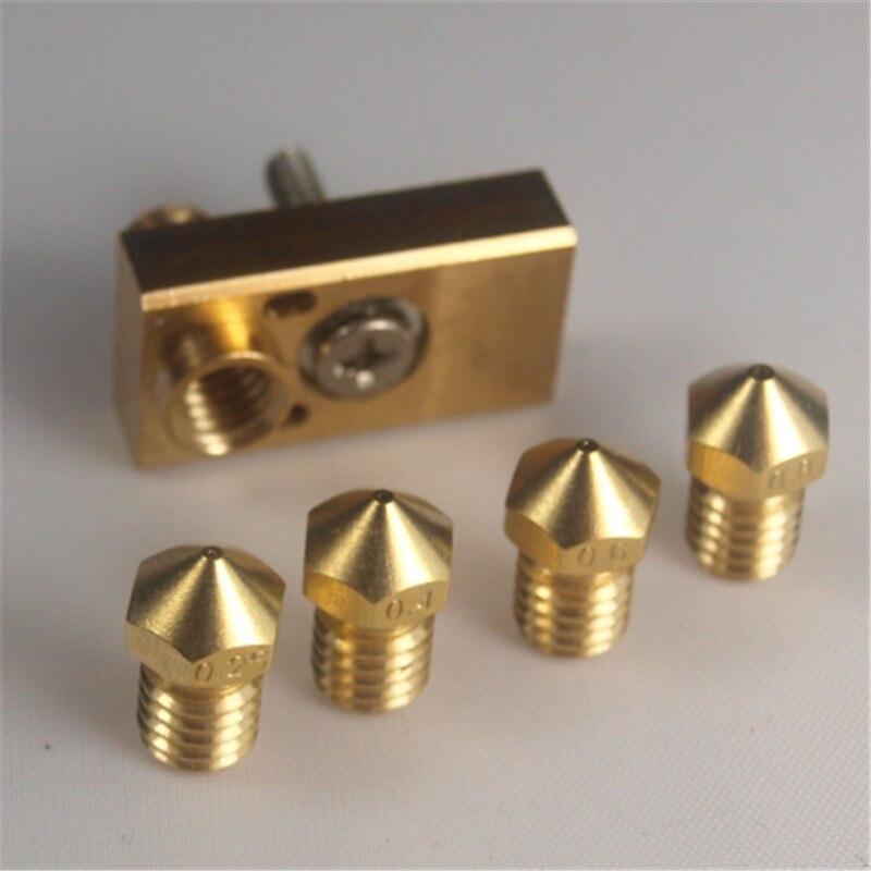 Ultimaker 2+ Olsson block kit for DIY 3D printer for 1.75/3mm filament E3D Olsson block hotend  interchangeable nozzle