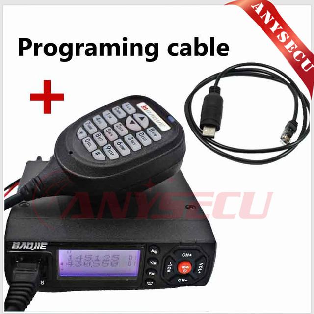 Venta caliente 25 W de Potencia de Salida Mini BJ-218 de Radio Móvil VHF/UHF 136-174/400-470 MHz Jamón de Radio para el Coche Bus Taxi con cable USB
