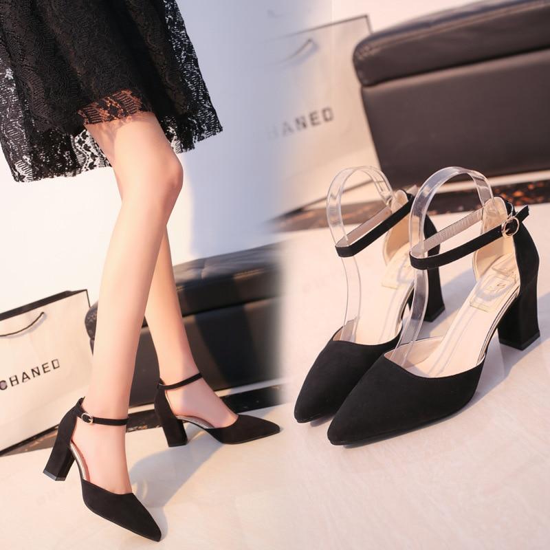 HTB1BybdamtYBeNjSspkq6zU8VXaM 2019 Fashion High Heels Newest Women Pumps Summer Women Shoes Thick Heel Pumps Comfortable Shoes Woman Platform Shoes s0013