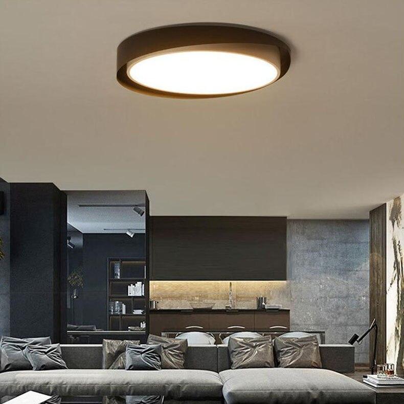 Minimalist Study Room: Minimalist LED Ceiling Lamp Art Round Acrylic Ceiling