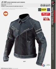 Komine jk-006 denim malla resistencia a la caída ropa de la motocicleta paseo raza automóvil chaqueta de la motocicleta más tamaño