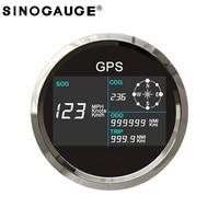85mm digital GPS Speedometer Waterproof Truck Boat motorcycle Digital LCD GPS Speedometer Gauge with GPS Antenna