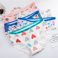 Girl Briefs Cotton Heart Print Women's Panties Ladies Casual Underwear Female Cartoon Cute Underpants Sexy Lingerie Wholesale women's panties