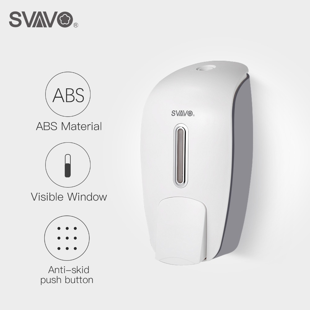 Unique Hand Soap Dispenser Us 18 73 20 Off 800ml Svavo Wall Mounted Hand Soap Dispenser Abs Plastic Manual Soap Dispenser Free Shipping Touch Shower Liquid Soap Dispenser In