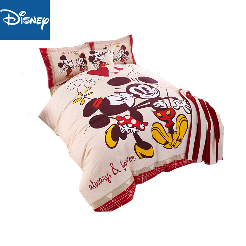 Twin size mickey minnie mouse bedding set cotton for kids ...
