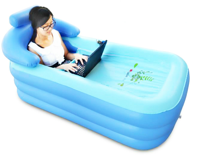 Awesome Adult Bathtub Folding Inflatable Portable Spa PVC WITH FOOT Pump  ACCESSORIES GIFTS(China (Mainland