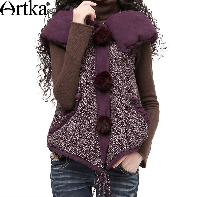 Artka Women Sleeveless Jacket Coat 2018