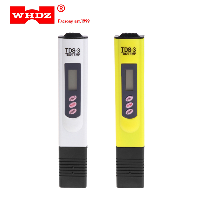 WHDZ High Quality Digital LCD Water Quality Testing Pen Purity Filter TDS Meter Tester 0-9990 PPM meter Portable TEMP/PPM brand kedida digital tds meter pen type 0 1000 ppm lcd electrical conductivity meter atc aquarium pool water quality tester