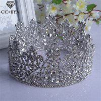 CC wedding crown headband tiaras pageant luxury flower crystal hair accessories for bridal engagement fashion jewelry gift HG160