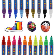 19 Vibrant Colored Oil Based Markers Weather Resistant and Non Toxic on Rocks, Metal, Wood, Glass