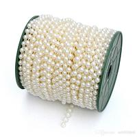 1 Roll 25 Metres Faux Pearls Beads Chain Wedding Garland Spool Strand Party Table Centerpiece