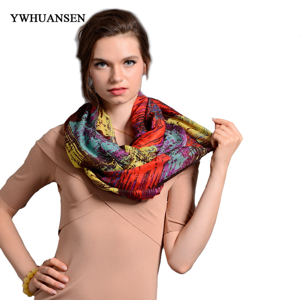 YWHUANSEN WOMEN SCARF 2017 high quality women scarves solid warm autumn and winter scarf shawl printed free shipping Mix color