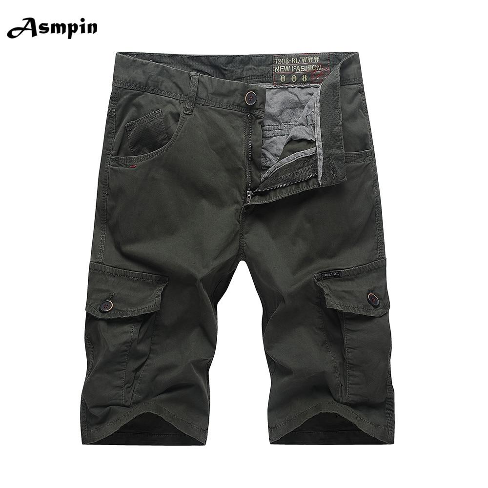 Asmpin 2018 New Shorts Men Summer Work Short Pants Camouflage Military Brand Clothing Fashion Mens Cargo Shorts Camisa Masculina