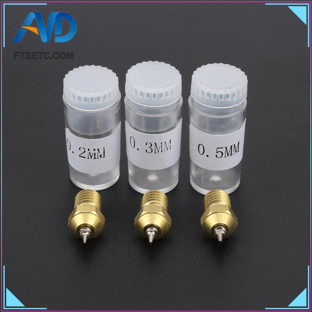 3D Printer Part 0.2/0.3/0.4/0.5mm Airbrush Nozzle Adapter Set Airbrush Nozzles Adapter With Nozzle For V6 Hotend 1.75mm Filament