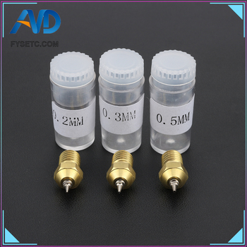 3D Printer Parts 0.2/0.3/0.5mm Airbrush Nozzle Adapter Set Airbrush Nozzles Adapter With Nozzle For V6 Hotend 1.75mm Filament