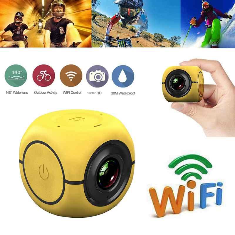 Yellow 1080P HD Bike Motorcycle Helmet font b Sports b font Mini font b Action b