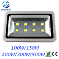 Outdoor lighting 100W 150W 200W 300W 400W Epistar Led Floodlight AC85-265V Flood light Waterproof Outside Led Reflector 2pcs/lot