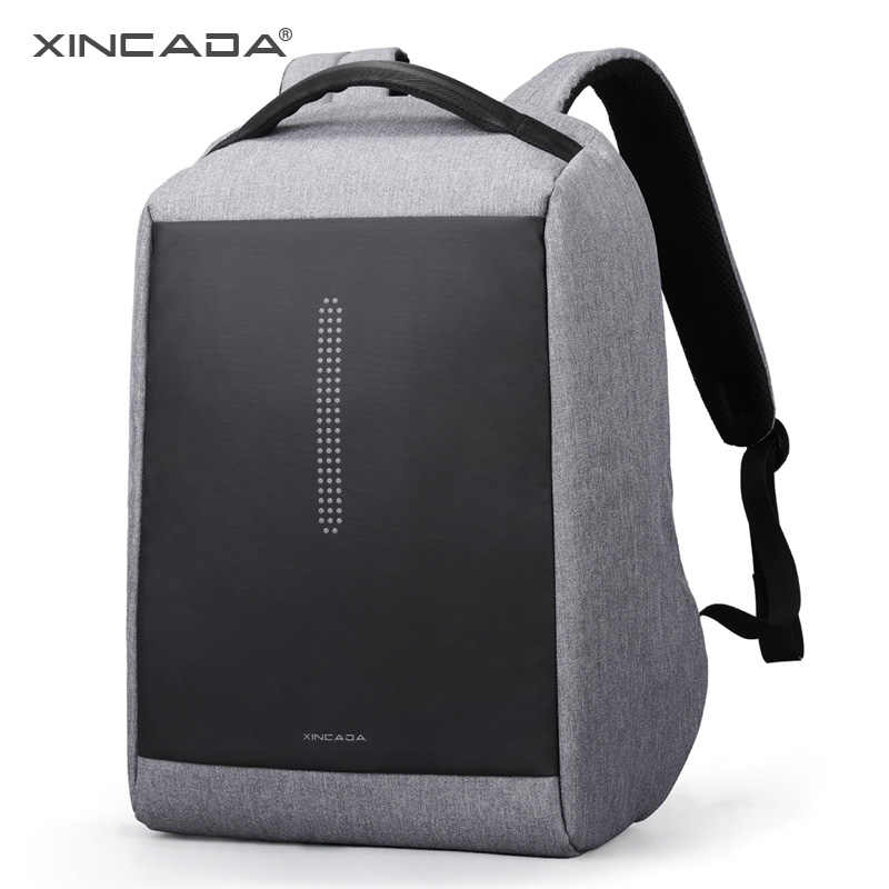 1beb94f0423 XINCADA Waterproof Polyester Backpack Unisex Men s Laptop Phone Charger  Backpack Casual School Bags Travel Mochila for 15 inch