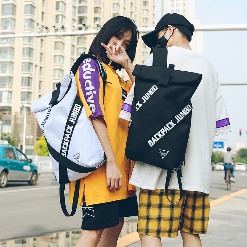 Couple Bag Unisex Cool Backpacks Personality Fashion Oxford Cloth Bag Casual Art Unique Big Backpack Latest Popular Hip Hop Bag