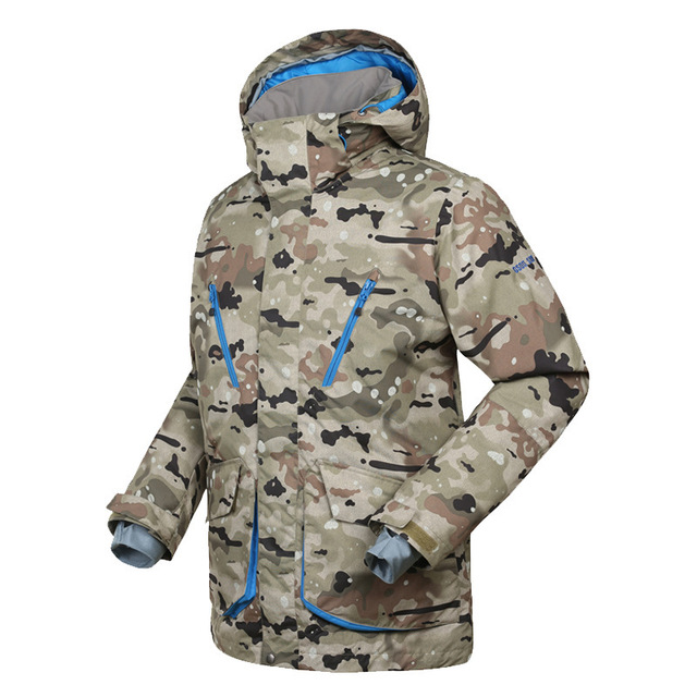 5462bd227c GSOU SNOW Winter Outdoor Men s Camouflage Ski Jackets windproof Waterproof  Snowboard suit Jackets Breathable keep warm Snow Coat