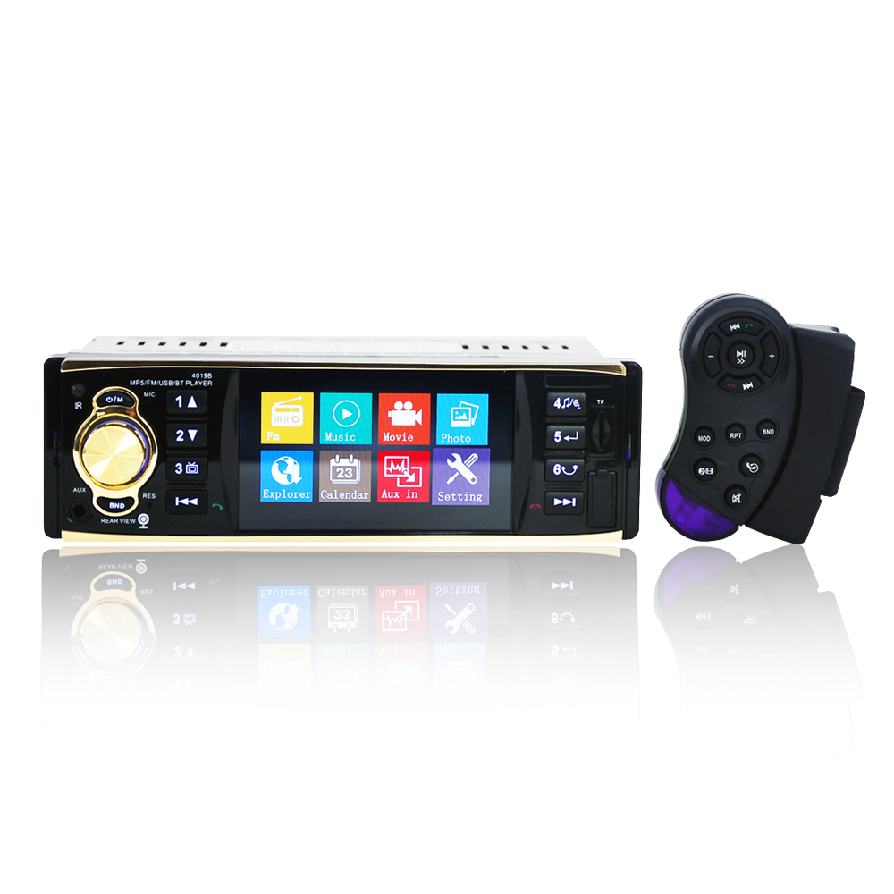 4019b1Din 12V 4.1inch Radio Tuner BT  MP4/MP5 Vehicle player Vehicle MP5 multifunctional player  BT  MP3 player-in Car Radios from Automobiles & Motorcycles