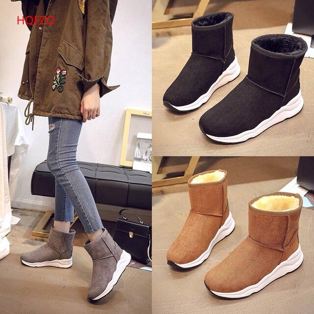 1755c480439 HQFZO clássico de Alta qualidade mulheres botas de inverno senhoras macios  confortáveis botas femininas de inverno