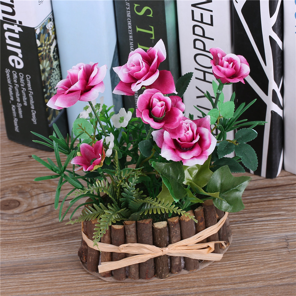 Artificial Silk Rose Flowers Bonsai Tree Branch Vase Fake Artificia Succulents Plants For Wedding Decoration Centerpieces Silk Plant Tree Planting Calendarplant Mesh Aliexpress
