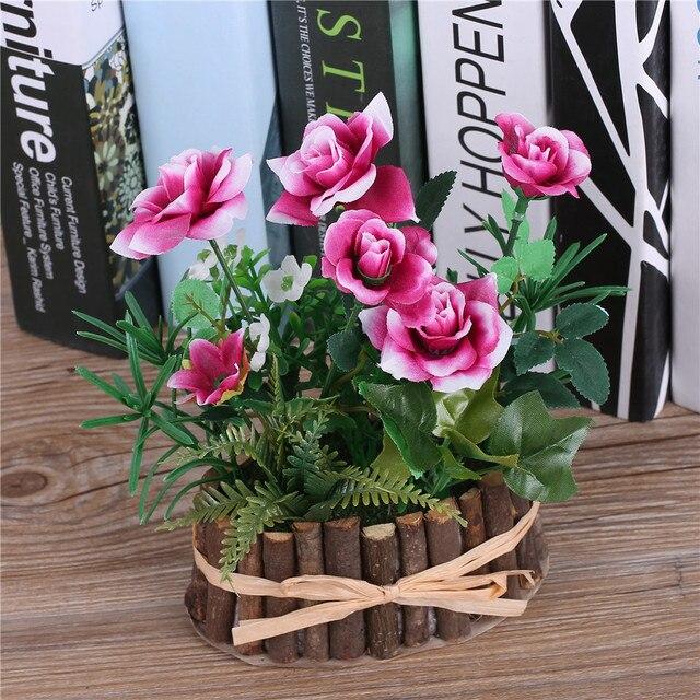 Aliexpress Buy Artificial Silk Rose Flowers Bonsaitree Branch