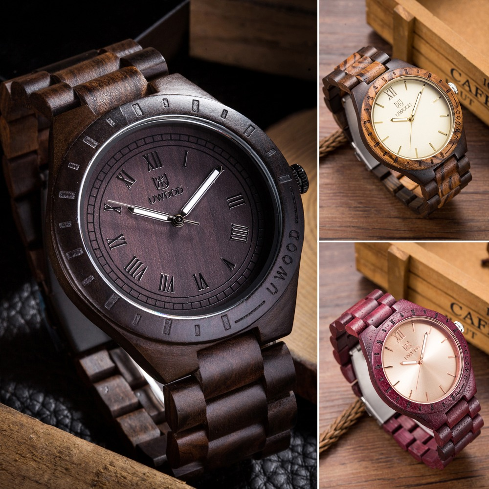 2018 New Wooden Watch Man Brand Uwood Quartz Wood Watch With Wood straps Men Relogio Masculino Watches Vintage Retro Wood Watch bewell wood watch men wooden fashion vintage men watches top brand luxury quartz watch relogio masculino with paper box 127a
