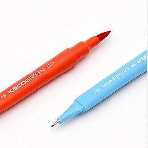 Image 5 - Youpin KACO 36 renkler çift İpucu suluboya kalemler boyama Graffiti sanat Markers çizim seti sanat çift fırça kalem toksik olmayan güvenli #