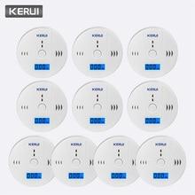 KERUI 10 قطعة تعمل مستقلة وحدها المدمج في 85dB صفارة الإنذار الصوت LCD CO الاستشعار أول أكسيد الكربون التسمم جهاز إنذار للتحذير الكاشف