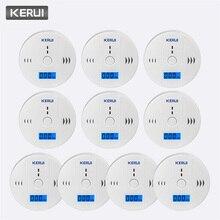 KERUI 10pcs Lavoro Indipendente Da Solo Built in 85dB suono della sirena LCD CO Sensore di Monossido di Carbonio Avvelenamento Allarme di Avvertimento rivelatore