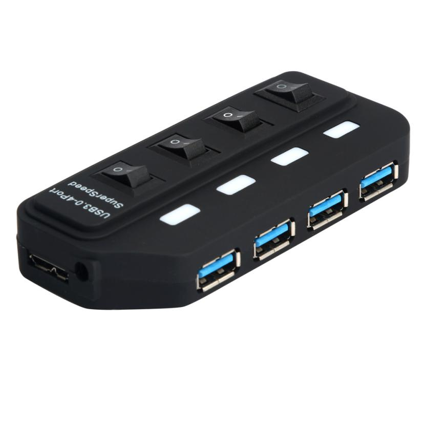 Top sale PC NEW USB 3.0 Hub 4 Ports Speed 5Gbps For PC Laptop With On/off Switch for Windows 2000 / XP / Vista / 7 / Linux 25 image