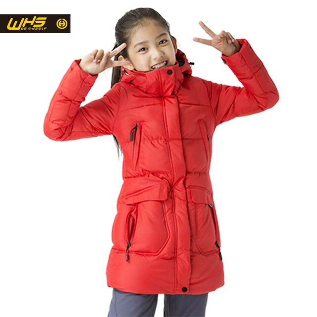WHS Новая Девушка хлопка куртки зимой толстые пальто дети теплый костюм ветрозащитный куртки девушки дышащая одежда
