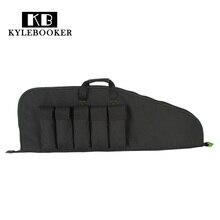 """Kylebooker 38 """"/ 100cm Rifle Tactical Katonai Nagy teherbírású pisztoly Fekete puha párnázott táska Vadászat Hátizsák Gun Protect"""