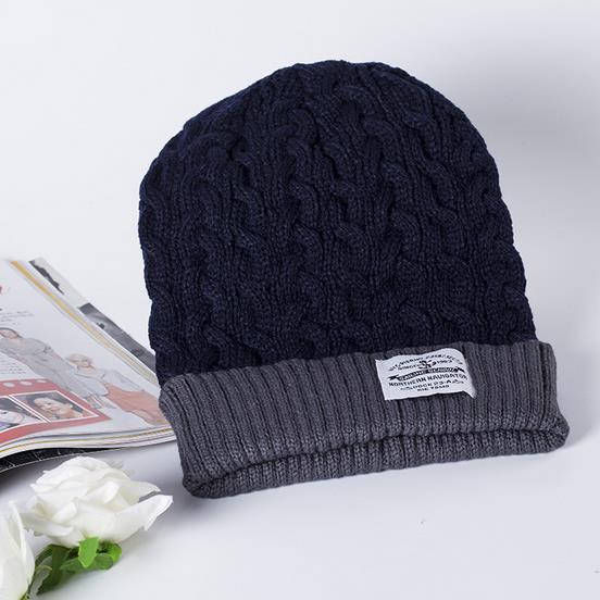 2016 Beanies winter Men knitted hat reversible New Women unisex baggy warm  ski skullies skull cap bonnets Gorros 2d25a7462710