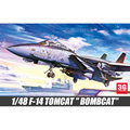 ACADEMY scale model 1/48 scale aircraft 12206 F-14 TOMCAT BOMBCAT plastic assembly model kits scale airplane model building kits