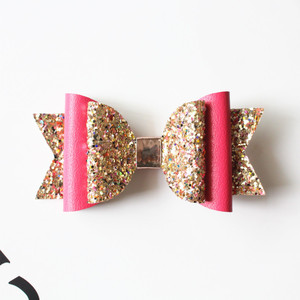Image 5 - Neue 15 Teile/los Schöne Bogen Haar Glitter Big Größe 10,5 cm Haarnadel Nette PU Leder Haarnadel Modish Mädchen Prinz Haar clip Bowknot Clip