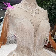 AIJINGYU Eenvoudige Trouwjurken Gown Bridal Lange Witte Folk Gown Boho Vintage Trouwjurk Luxe