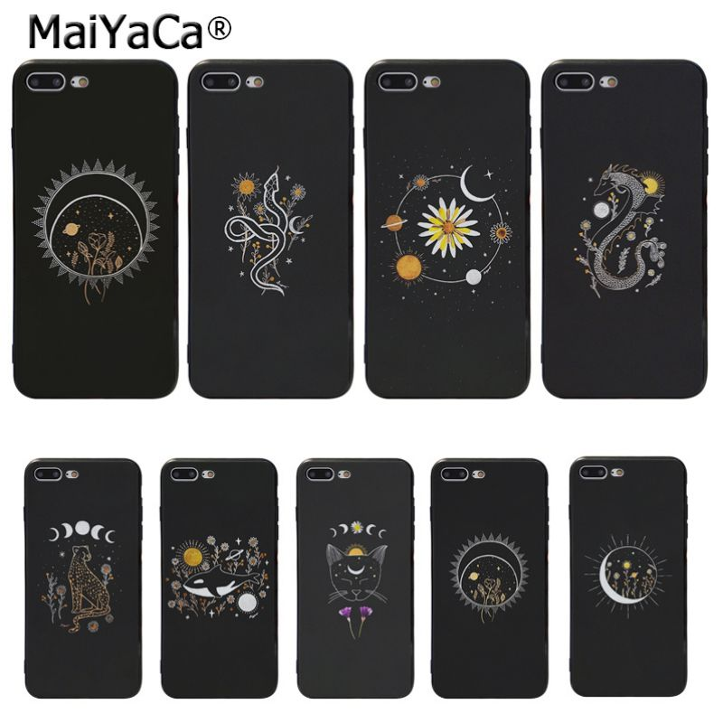 Just Maiyaca Space Love Moon Astronaut Black Soft Shell Phone Cover For Apple Iphone 8 7 6 6s Plus X Xs Max 5 5s Se Xr Mobile Cover Cellphones & Telecommunications