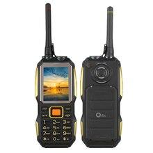 Ursprüngliche G1 Robuste Taschenlampe Telefon Älteres alter mann handy energienbank Lautsprecher bluetooth walike talkie UHF Radio PTT 3800 mAh